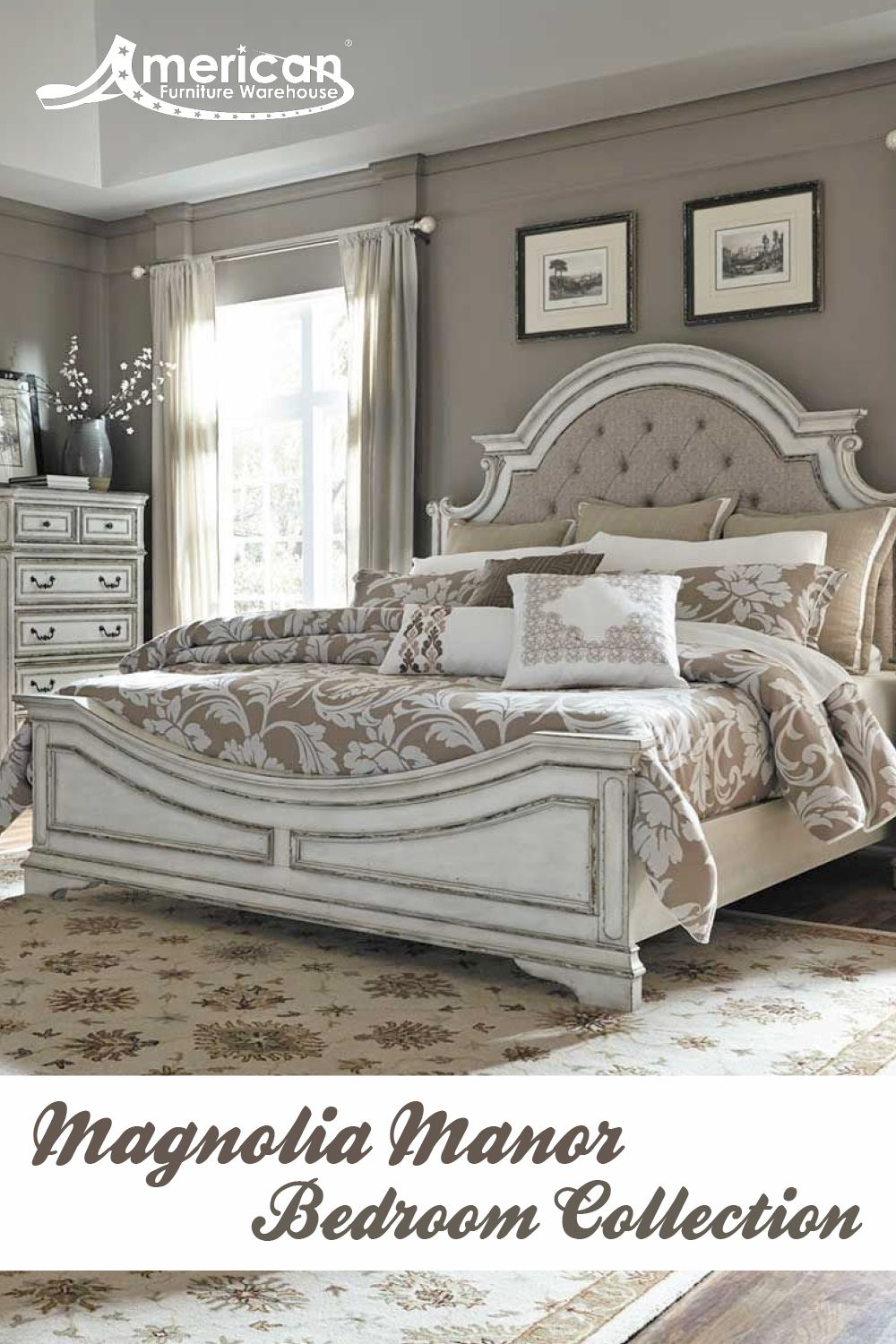 magnolia manor 5 piece bedroom set in 2019 paid board bedroom rh pinterest com
