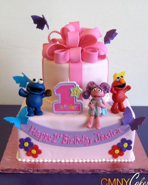 Abby Cadabby And Elmo Cakes Abby Cadabby Elmo Cookie Monster - Elmo and abby birthday cake