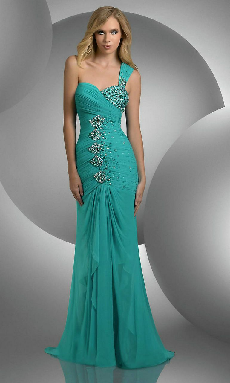 1000  images about One Shoulder Prom Dresses on Pinterest  Prom ...