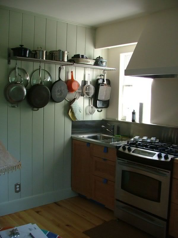 Ikea Grundtal Shelf As A Pot Rack Cabin Kitchens