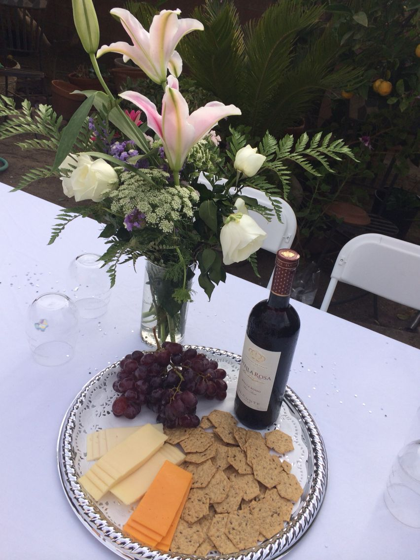 Centerpiece for First Holy Communion... Wine glasses are ...
