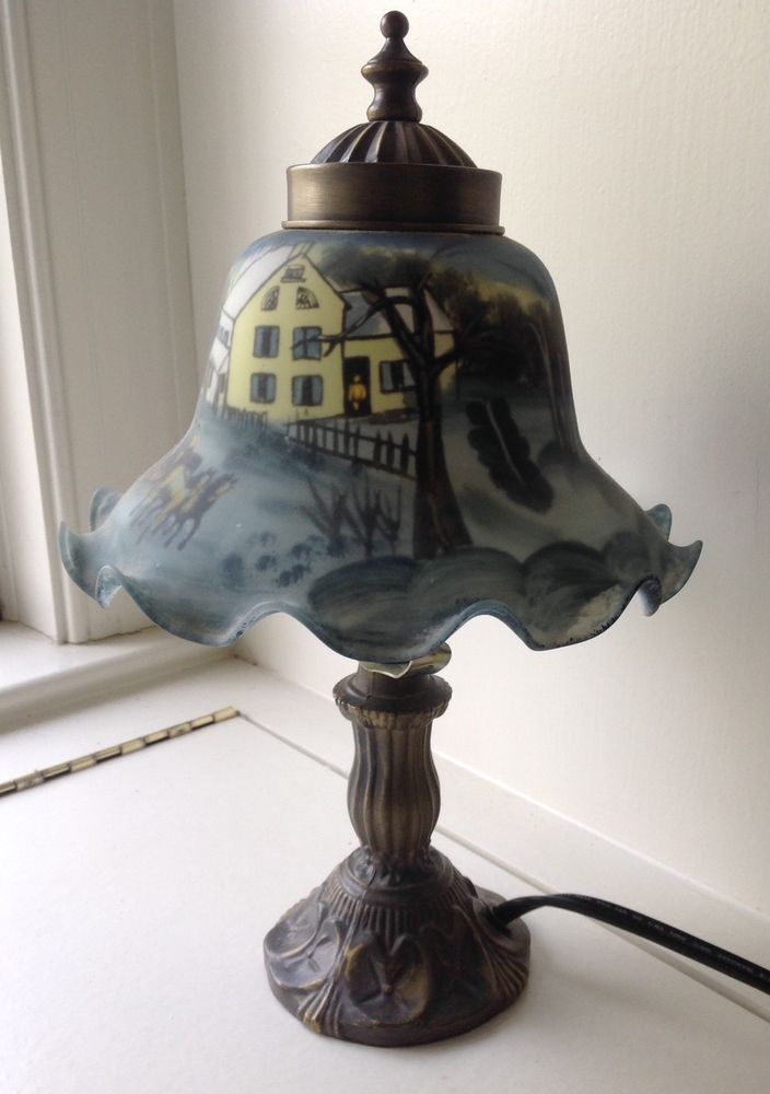 Vintage Currier New York City Museums Currier And Ives Table Lamp