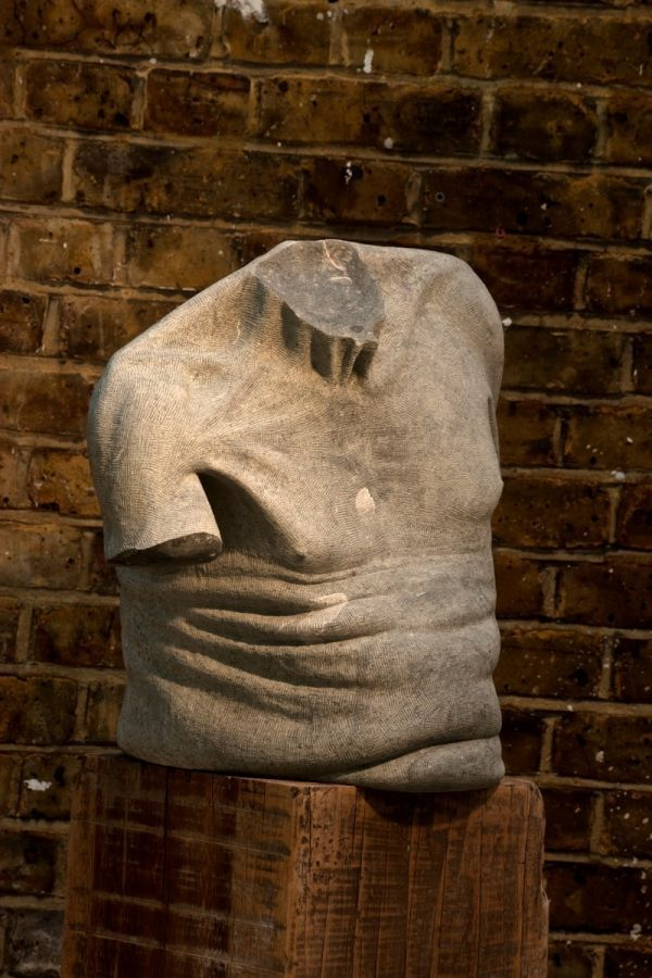 Verde Ardesie green limestone #sculpture by #sculptor Anna ...