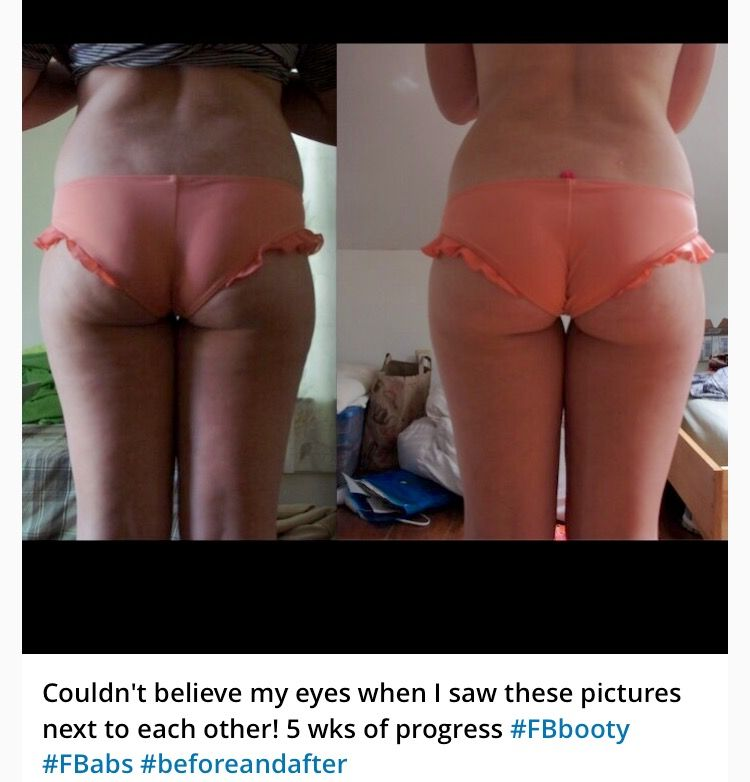 Results from combining our 4 Week Butt & Thigh Program & 4 ...