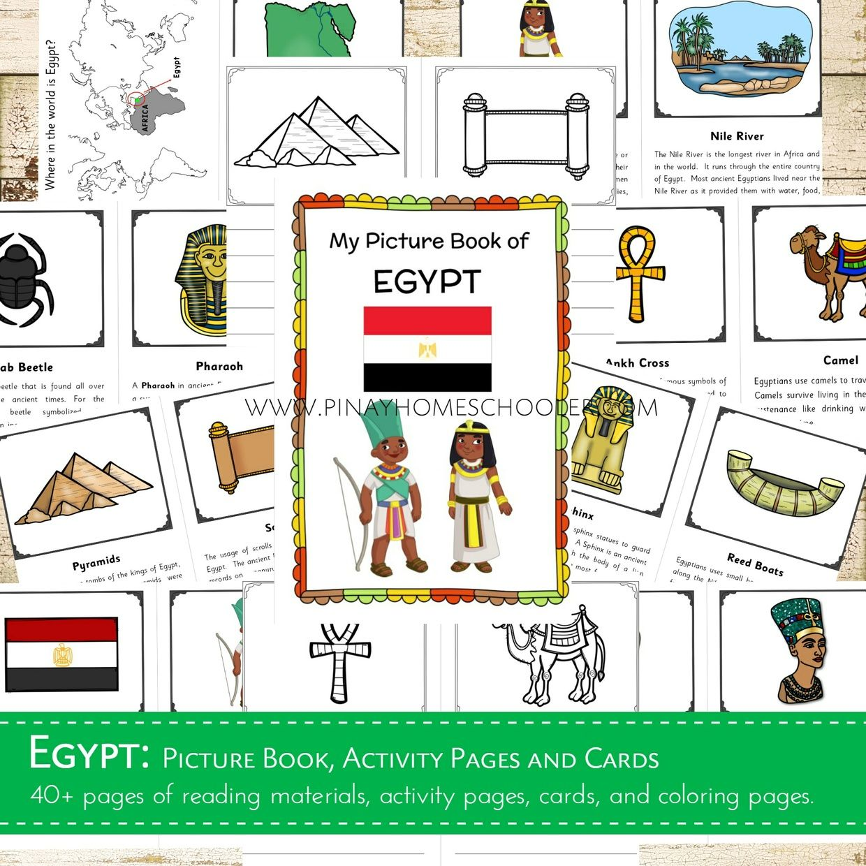 This Contains Learning Materials For Introducing Egypt To Children From 3 Years And Older It Contains R Activities Preschool Activities Afterschool Activities [ 1240 x 1240 Pixel ]