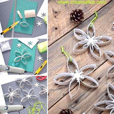 diy} flocon de neige en carton récup | noel, xmas and craft