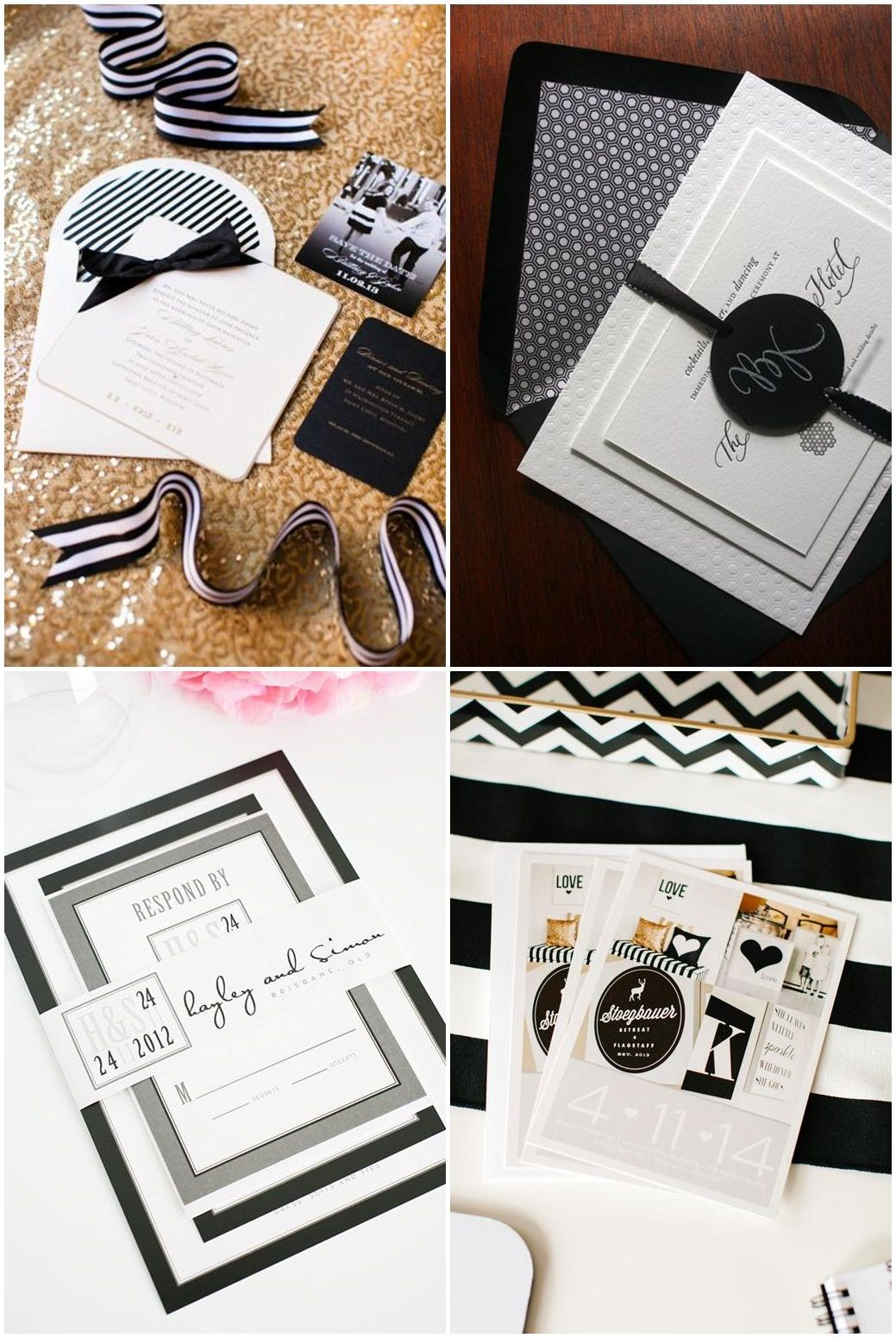 Black And White Theme Party Invitations Ideas