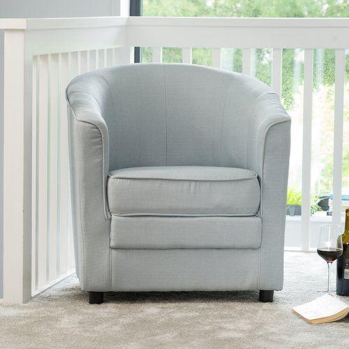 Winthrop Tub Chair Charlton Home Upholstery Silver Tub Chair