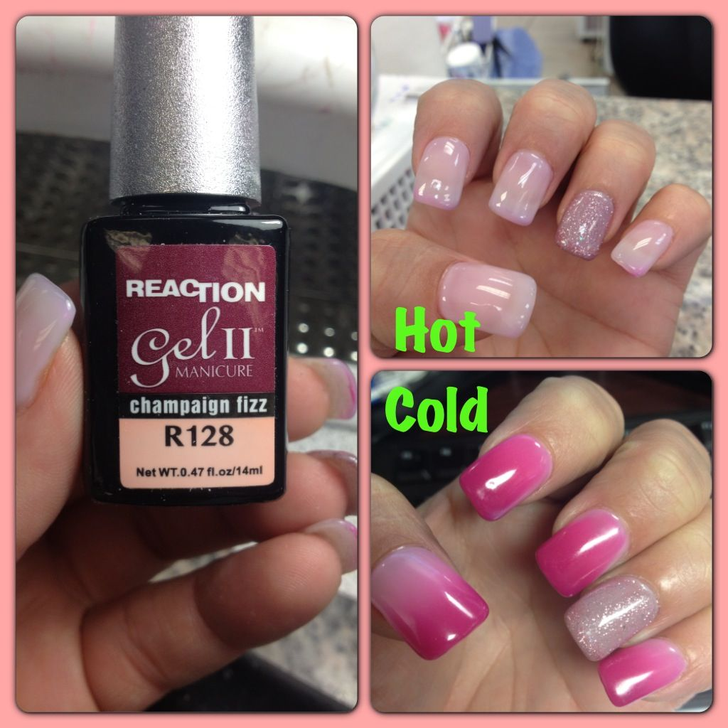 Reaction Gel Ii Manicure Champagne Fizz R128 With 53 Shellac Reacts To Hot And Cold Temperature
