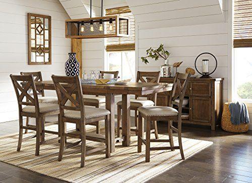 morrivill casual beige color dining room set rectangular counter rh pinterest co uk