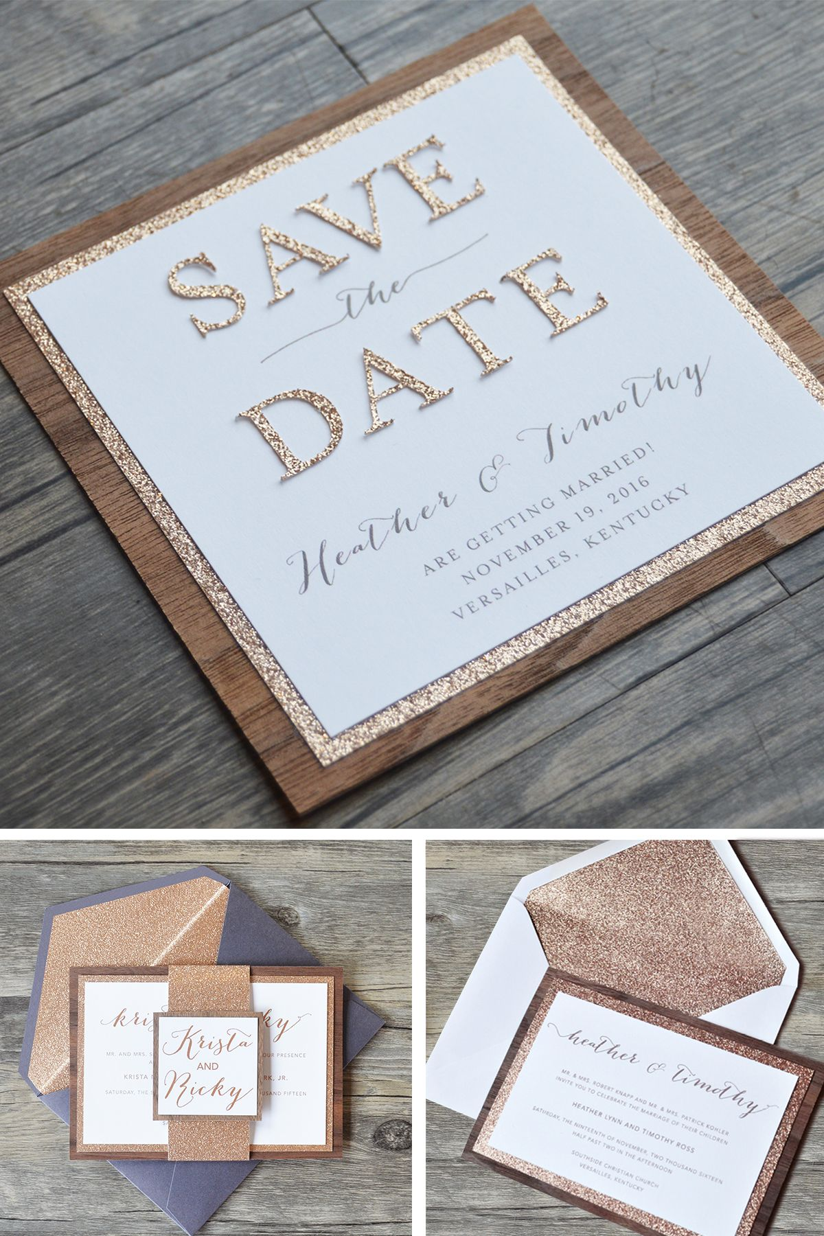 paper style wedding invitations%0A Heather Save the Date  Wedding Invitation