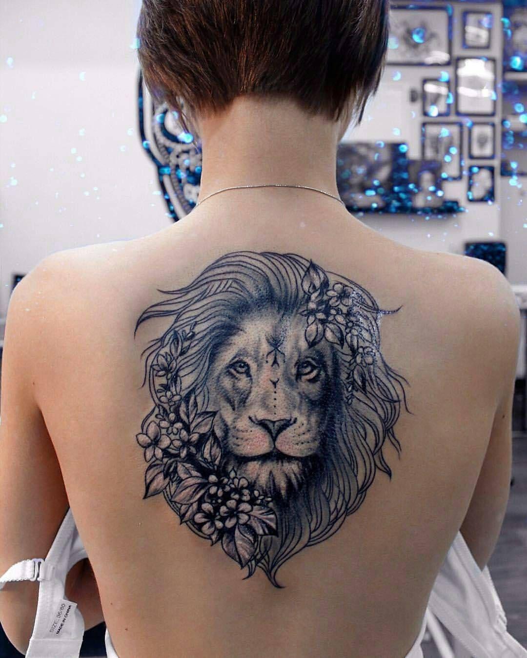 Lion Back Tattoo Badass Tattoos Back Tattoo Women Tattoos