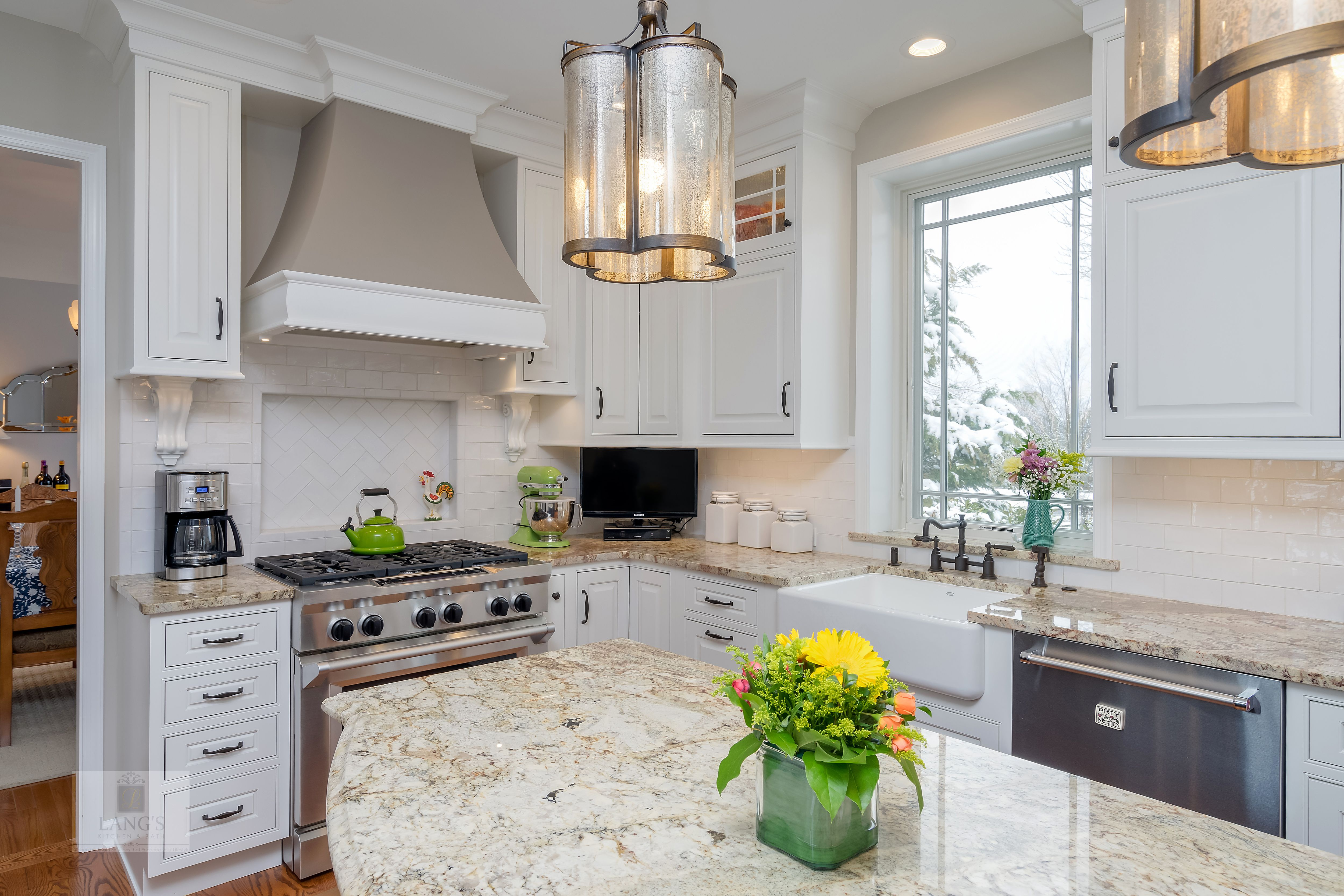 the painted white durasupreme kitchen cabinets create a bright rh pinterest com