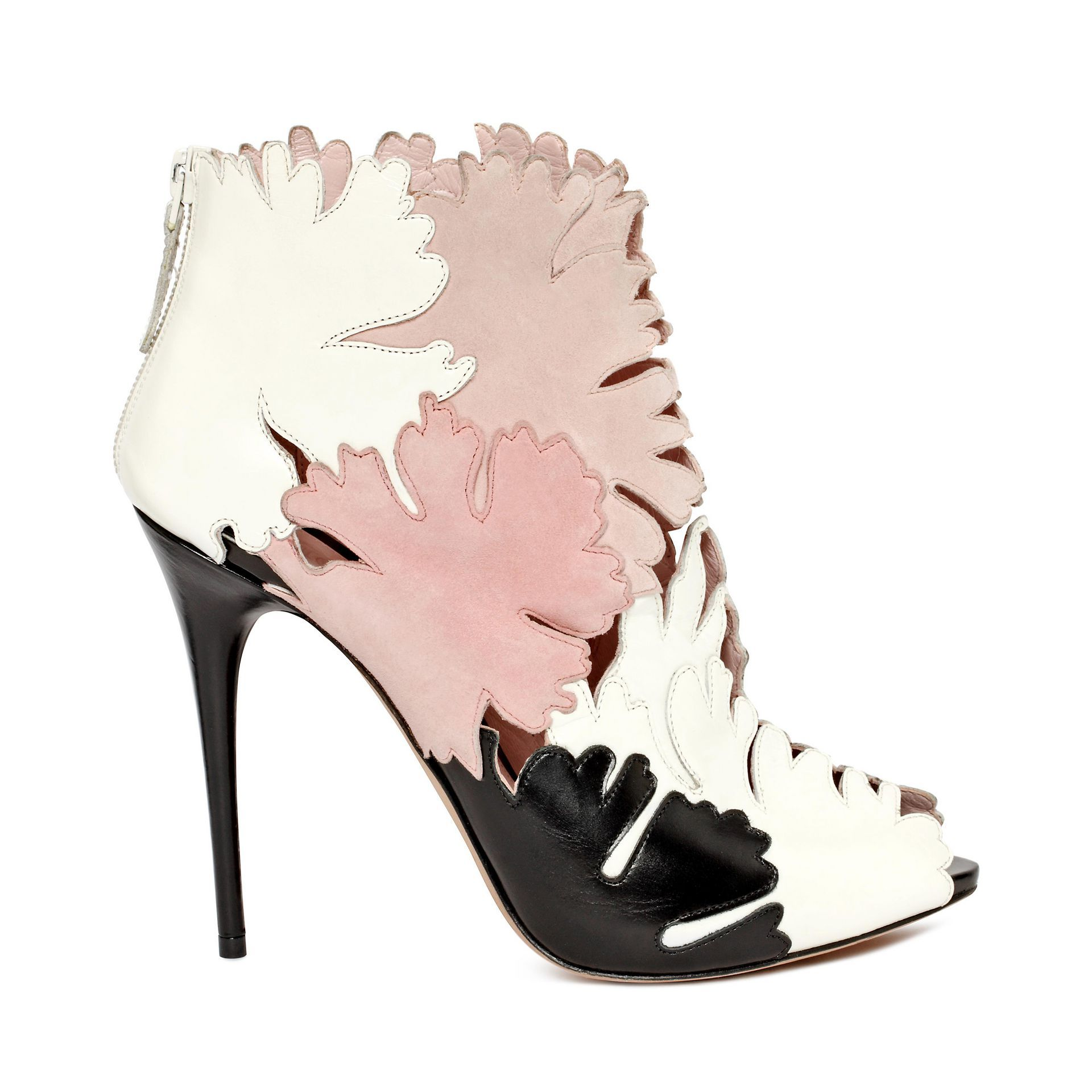 Women's Peep Toe Fashion Stiletto Heel Booties With Applique