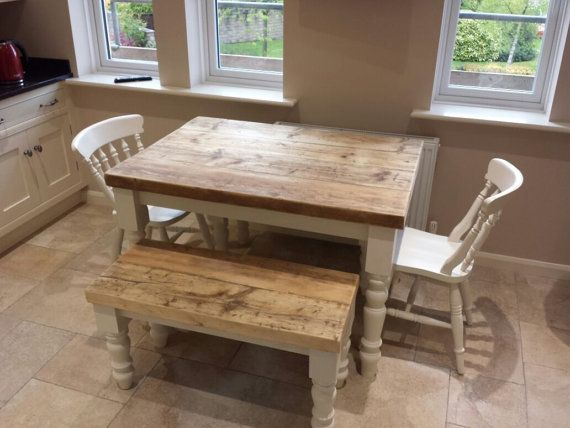 farmhouse dining table with thick reclaimed wood top made to rh pinterest de