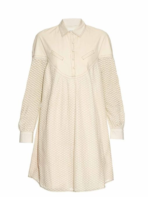 Cecilie Copenhagen Florence long-sleeved cotton and silk-blend dress