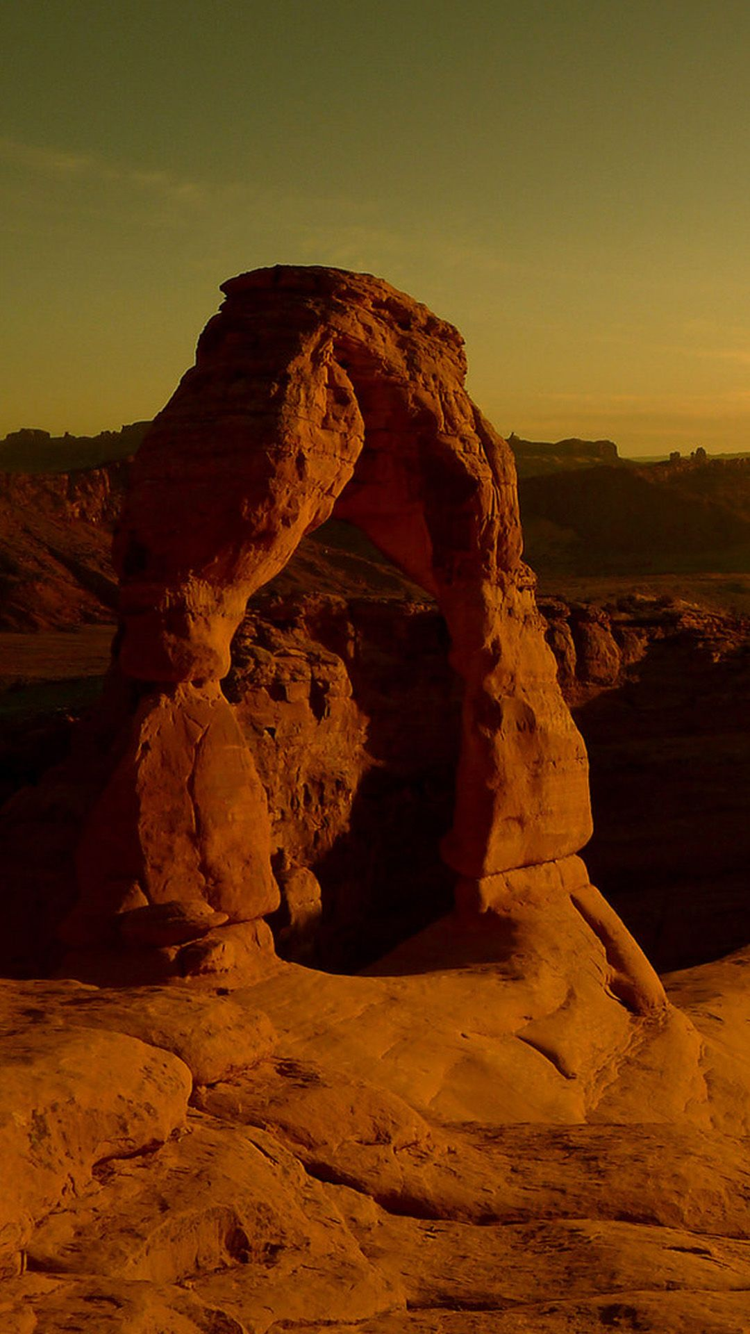 Arches National Park At Dusk IPhone 6 Plus Wallpaper