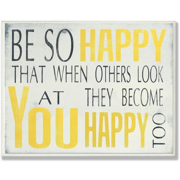 Stupell Be So Happy Typography Wall Plaque ($22) ❤ liked on ...