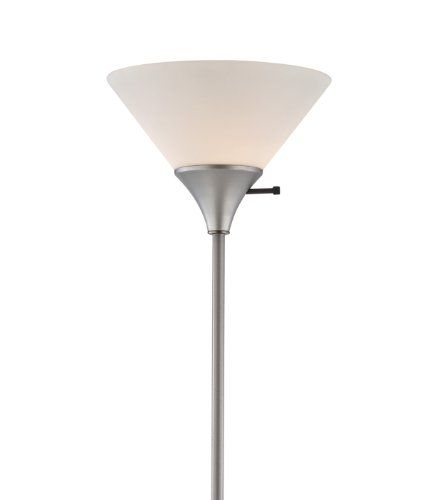Home Design 100 Watt Floor Lamp Silver Finish With White Plastic Shade Lightaccents Click Image For More Details Silver Floor Lamp Floor Lamp Lamp