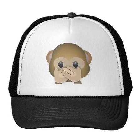 Speak No Evil Emoji Hats  7e11bd6ef05