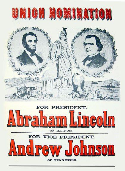 Stupendous National Union I E Republican Party Poster 1864 Best Short Hairstyles Gunalazisus