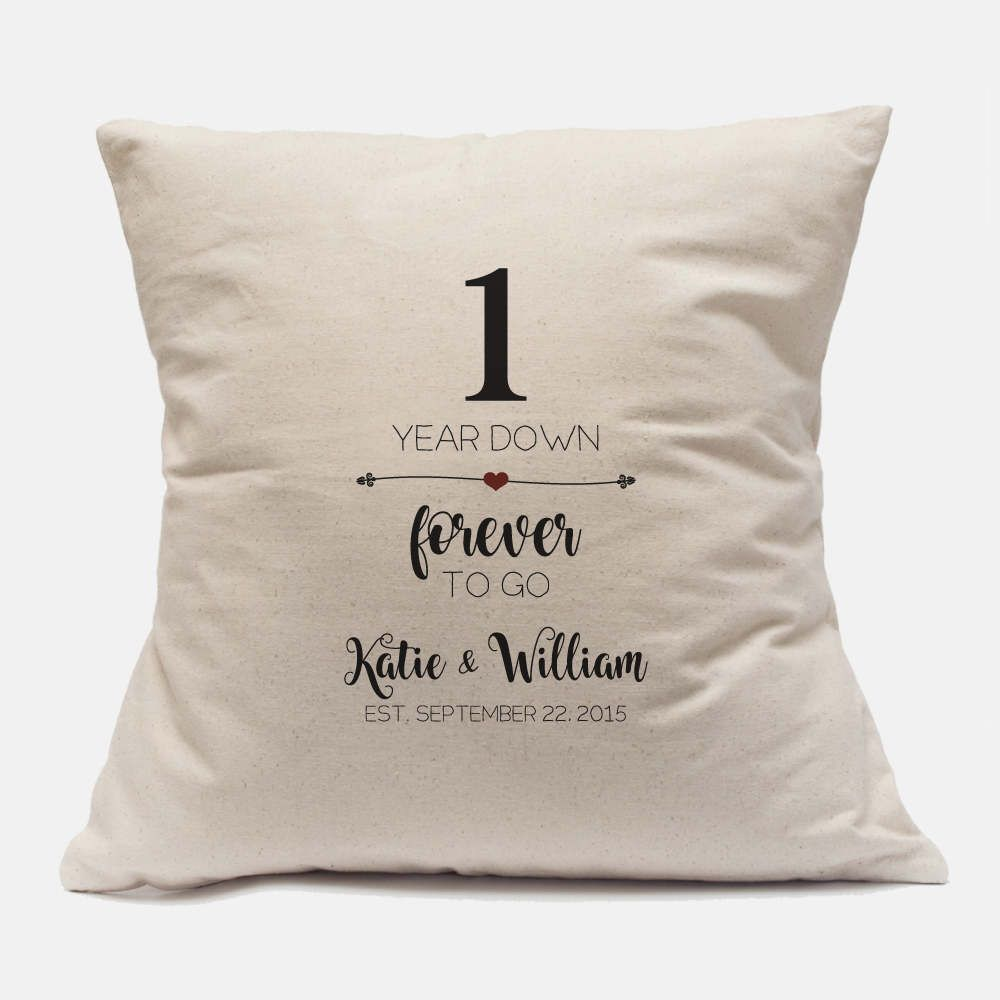 1 Year Anniversary Gift for Him Gift Personalized Pillow ...