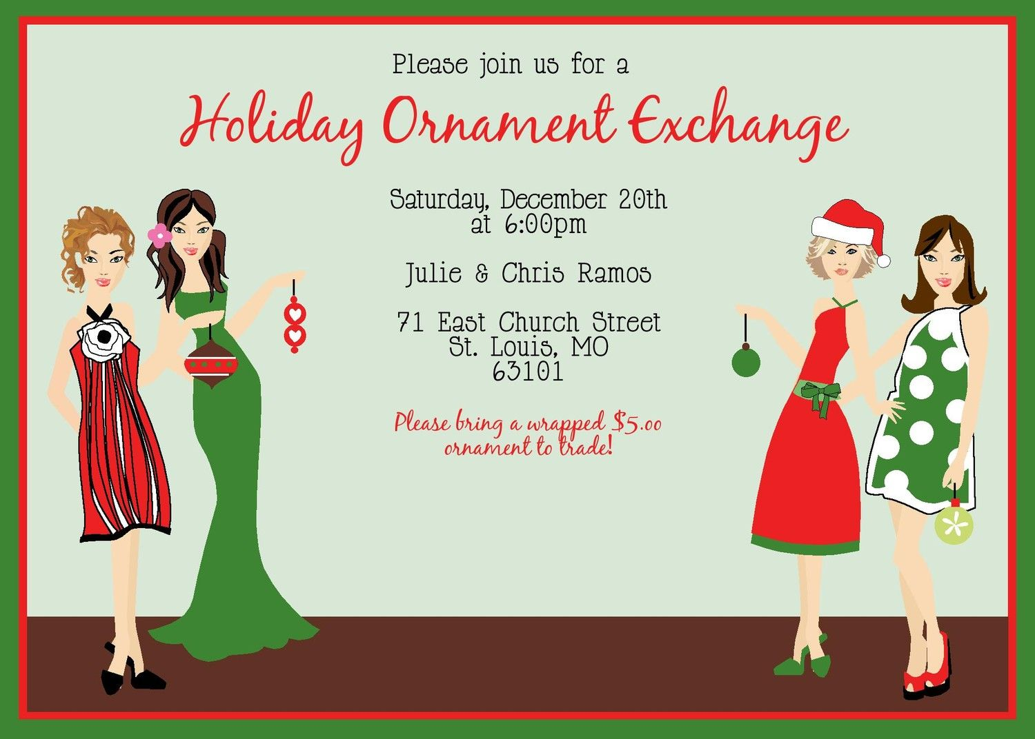 Ornament Party Ideas Ornament Exchange Swap Trade Holiday
