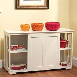 shop for simple living antique white sliding door stackable cabinet rh pinterest com
