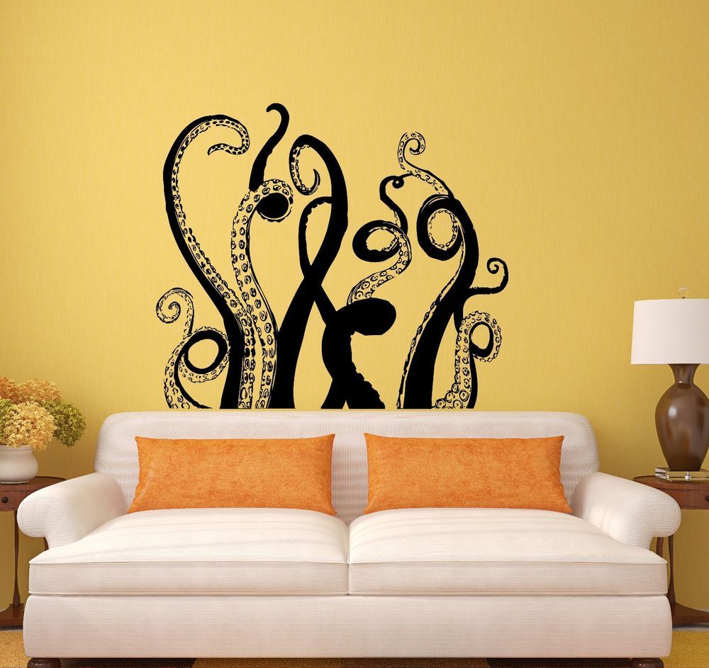 Octopus Tentacles Wall Vinyl Sticker Decal Marine Decor Bathroom Art ...