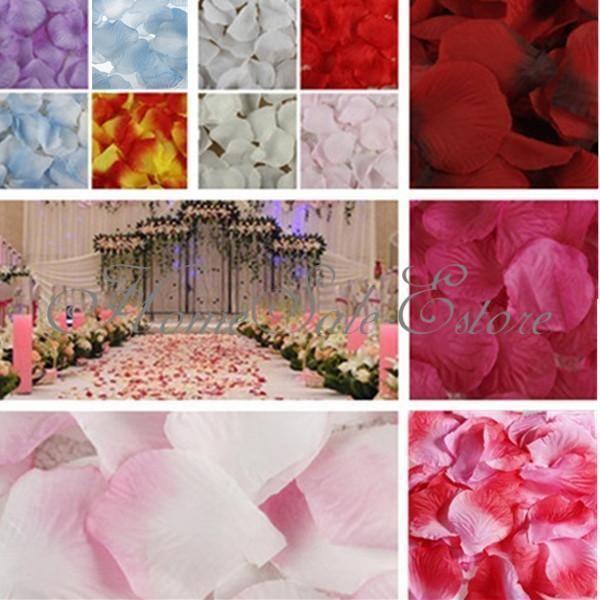 Lot 100/1000 pétales de rose fleur tissu décoration fête mariage baptême pétale