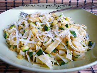 Slightly Spicy Zucchini Pasta with Parmesan Cheese Recipe #pasta [http://lauraliciousrecipes.blogspot.se/2012/05/slightly-spicy-zucchini-pasta-with.html]