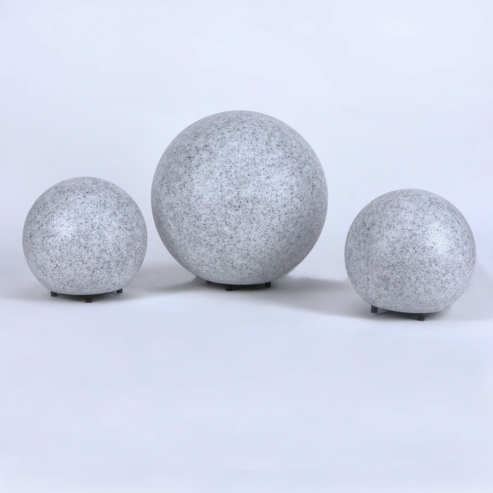 Lot De 3 Luminaires Spheriques Led 6 W Exterieur Lampes Lumiere Regard Granit Ebay