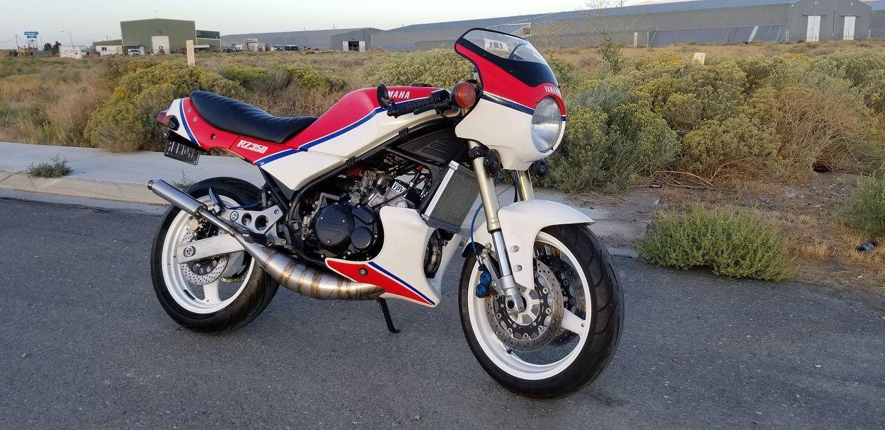 Yamaha RZ350 Restomod | Two-Stroke Customs | Yamaha, Custom