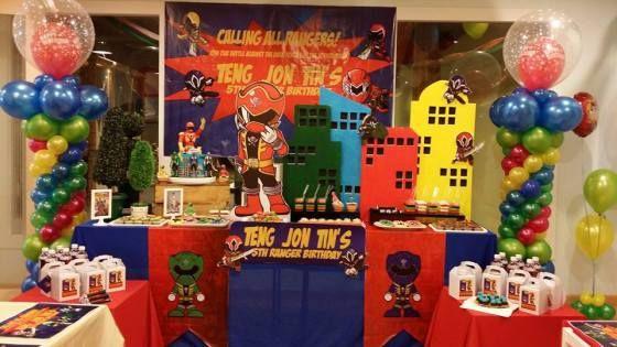Really Cool Power Rangers Party In China Cumpleanos De Tema Power Ranger Fiesta Ninos Cumpleanos Ninos