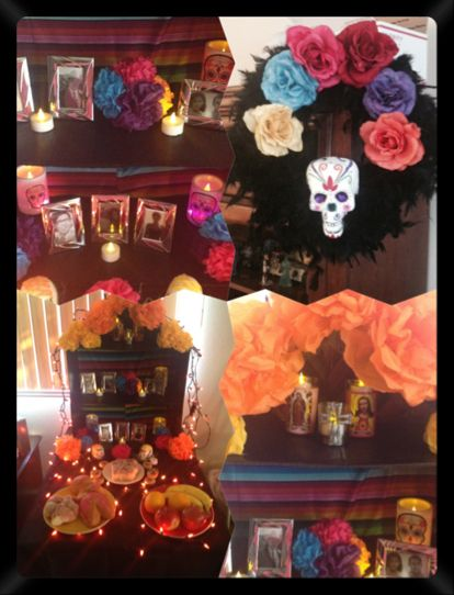 Dia De Los Muertos alter I created to honor my loved ones who've passed on.