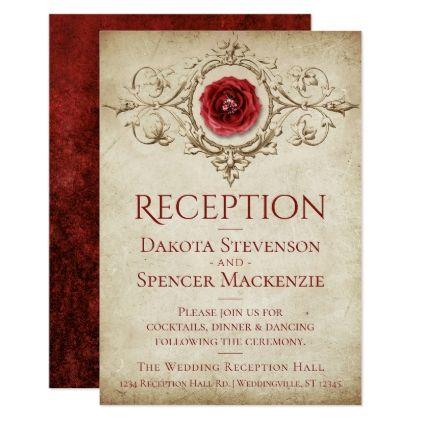 shabby chic reception scarlet grunge rose insert in 2018 flowers rh pinterest com