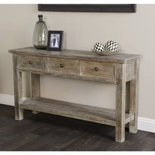 rockie rustic wood console table by kosas home living room rh pinterest com
