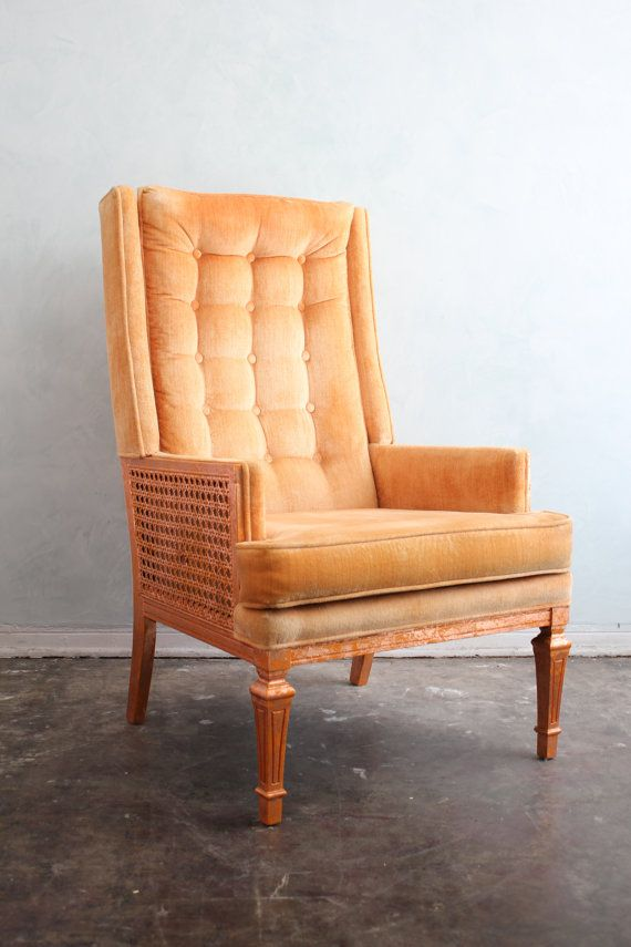 what a dream chair tangerine and copper leaf retro arm chair by rh pinterest com