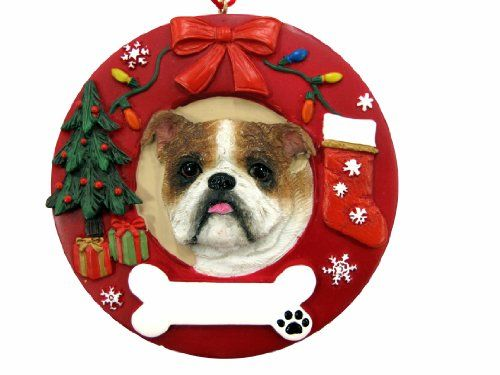 ES Pets Bulldog Personalized Christmas Ornament *** Check out this great product.  This link participates in Amazon Service LLC Associates Program, a program designed to let participant earn advertising fees by advertising and linking to Amazon.com.