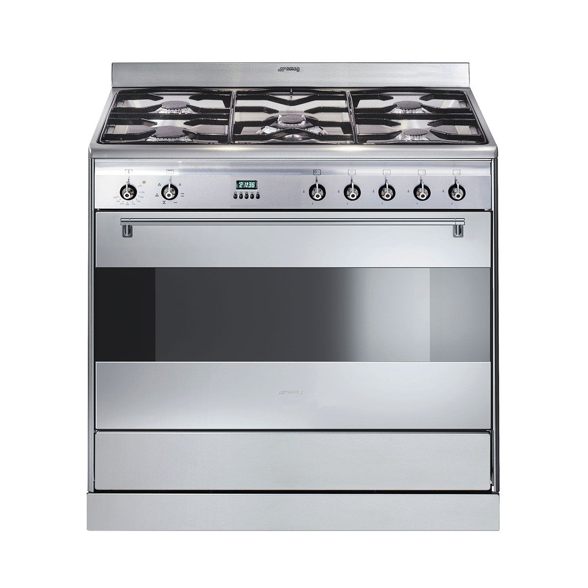 smeg 90cm freestanding dual fuel oven stove stainless steel download product specification pdf. Black Bedroom Furniture Sets. Home Design Ideas