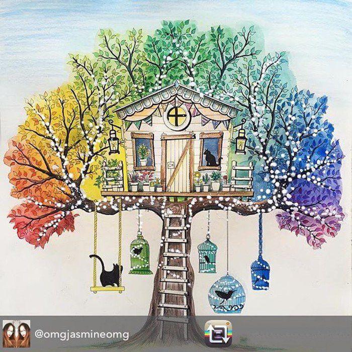 96 страниц английский секретный сад раскраски для взрослых ...