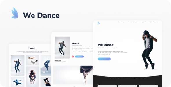 Hello! We Dance is a clean and minimal HTML template. This