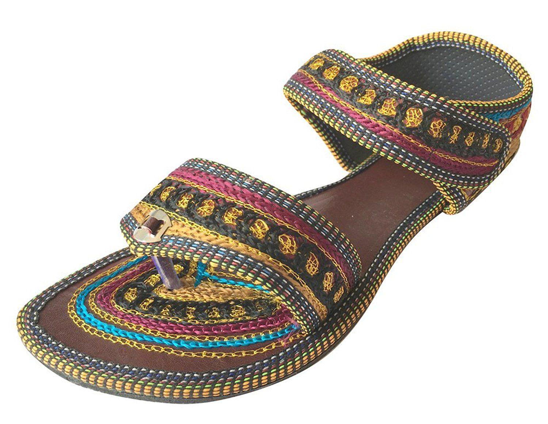 Womens sandals reviews - Step N Style Womens Ehtnic Indian Sandals Flip Flops Khussa Jutti Saree Flat Slipper