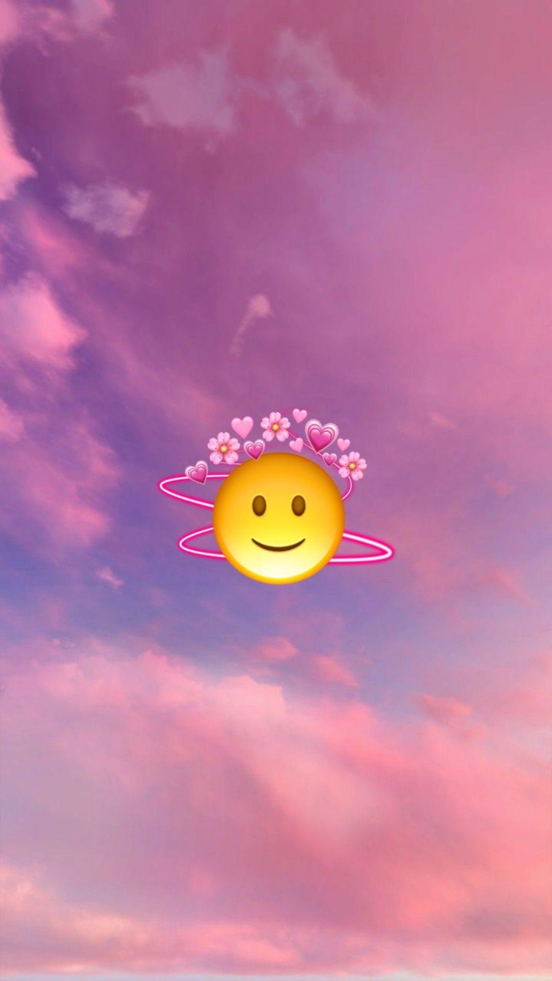 🙂🌸💗   Emoji wallpaper iphone, Emoji wallpaper, Wallpaper iphone ...