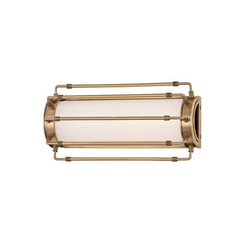 Hudson Valley Hyde Park Aged Brass LED 15 Inch One Light Wall Sconce 9712 Agb | Bellacor