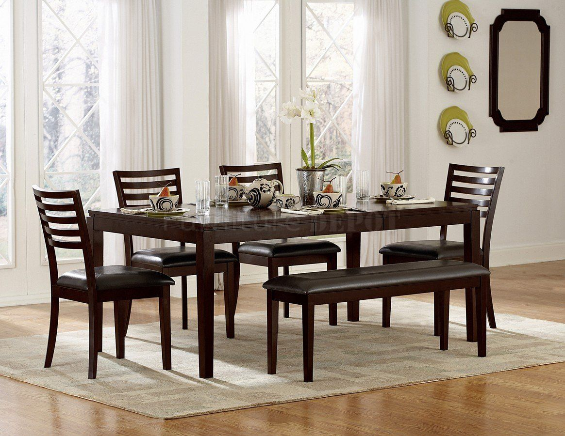 Awesome Dinette Sets With Bench Homesfeed within