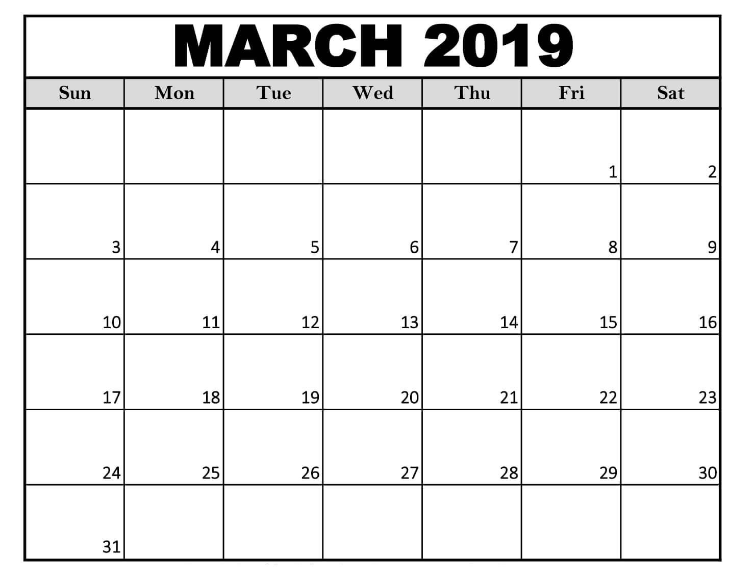Edit Calendar 2019 edit march 2019 calendar template | 2019 Calendars | 2019 calendar