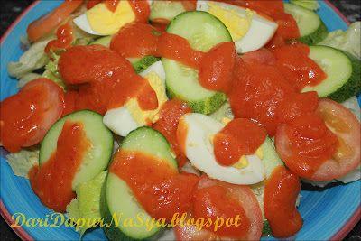 Salad Kentang Dan Sos Cili Salad Kentang Masakan