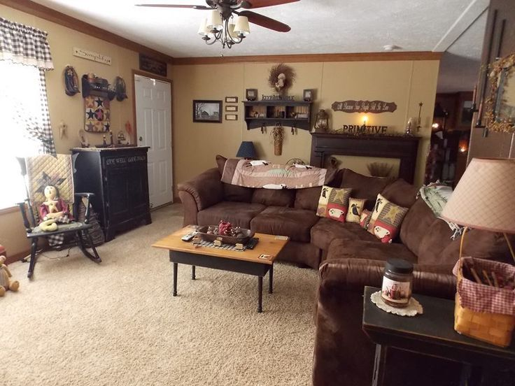 20 Inspiring Primitive Home Decor Examples Primitives, Living