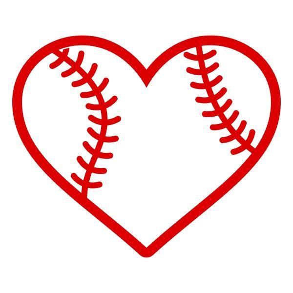 Download Baseball Heart Cuttable Design | Cricut Decor | Pinterest